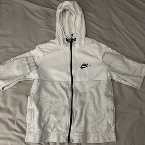 Black and White Nike Zip Up